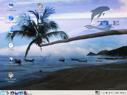Screenshot of OpenTLE Live CD 5.5 -- a Thai localized Linux Live-CD