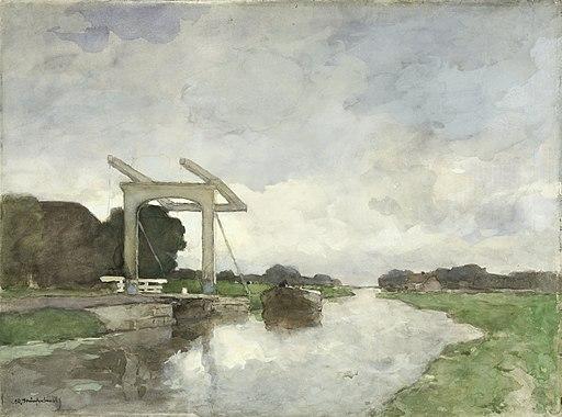 Ophaalbrug bij Noorden Rijksmuseum SK-A-2453