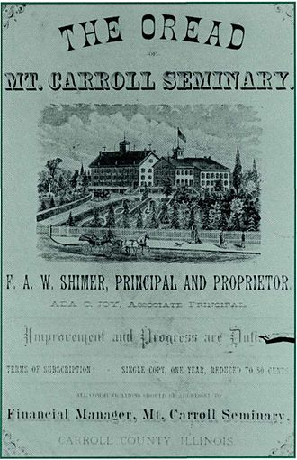 Mount Carroll Seminary - The Oread, published by the Oread Society.