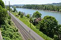 Oregon Pacific RR track and Springwater Corridor Trail from Hwy 99E.jpg