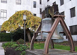 Liberty Bell (Oregon State Capitol) - Image: Oregon State Capitol Bell