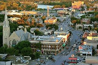 Osborne Village Neighbourhood in Winnipeg, Manitoba, Canada