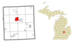 Location within Shiawassee County