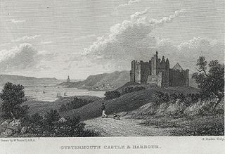 Oystermouth castle & harbour