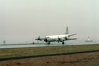 Naval Air Station Keflavik - A U.S. Navy P-3C Orion of Patrol Squadron 56 (VP-56) at Keflavik, 1977.