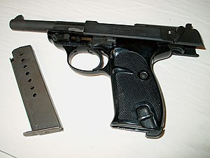 Pistole P1 entladen