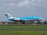 PH-KZK KLM Cityhopper Fokker F70 landing at Schiphol (EHAM-AMS) runway 18R pic3.JPG