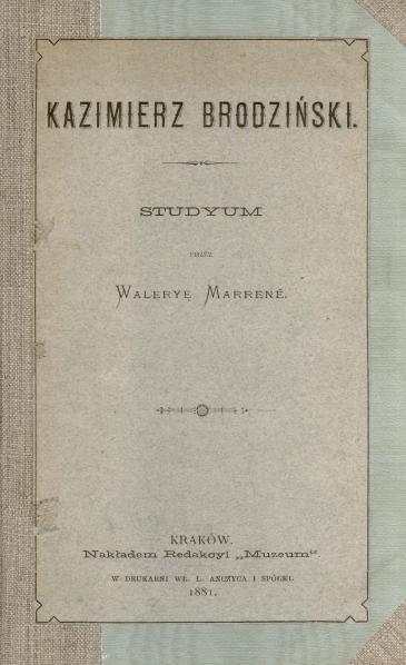 File:PL Waleria Marrené-Kazimierz Brodziński-studyum.djvu
