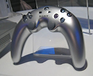 "Sixaxis - The original ""Boomerang"" or ""Banana"" controller which was soon abandoned after its poor reception."