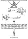 PWS 3 3-view Le Document aéronautique November,1927.png