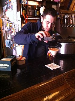 Pacific Standard owner preparing Santorum cocktail drink 07.JPG