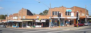 Padstow, New South Wales - Howard Road and Padstow Parade intersection