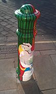 Painted Bollard, Winchester 37