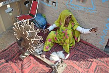 Thari women working on Charkha
