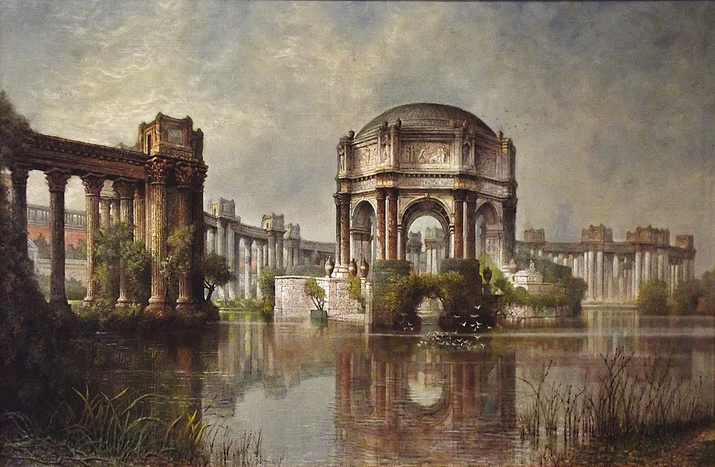"""""""Palace of Fine Arts and the Lagoon"""" by Edwin Deakin"""