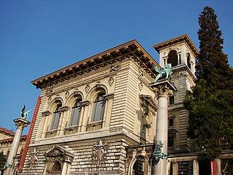 Palais de Rumine - The main entrance of the Palais de Rumine