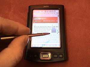 Palm (PDA) - The Palm TX offers the ability to browse the Internet wirelessly
