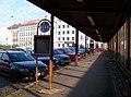 Palmovka, autobusové nádraží, staré sloupky ČSAD.jpg