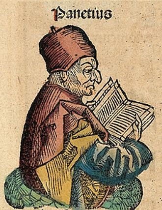 Panaetius - Panaetius, depicted as a medieval scholar in the Nuremberg Chronicle