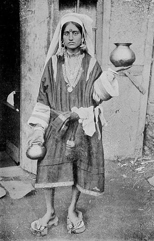Paduka -  Pandit woman wearing Paduka c. 1922
