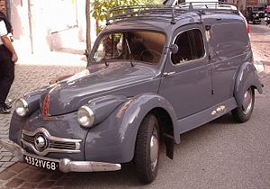 Panhard Dyna X - A fourgonette / light van Dyna X was also offered.