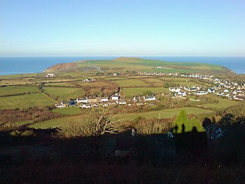 English: Panorama from Dinas Mountain Views ac...