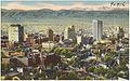 Panorama of mile high Denver, Colorado, metropolis of the Rocky Mountain Empire. (7725174818).jpg