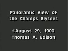 File:Panoramic View of the Champs Elysees (1900).webm
