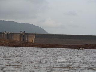 Panshet Dam dam in Velhe Pune District, Maharashtra, India