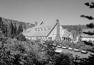 Paradise Inn (Washington) - Image: Paradise Inn in Black and White