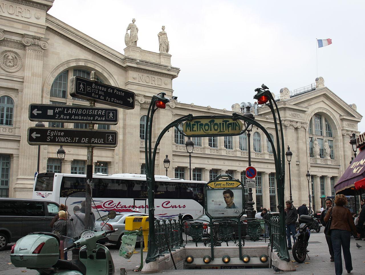 File paris station metro gare du nord 1 jpg wikimedia for Gare du nord paris