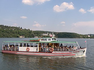 Brno Reservoir - One of the boats on the reservoir