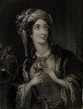 Edmund Thomas Parris - The Sultan's Daughter (engraving by H. Cook after Parris)