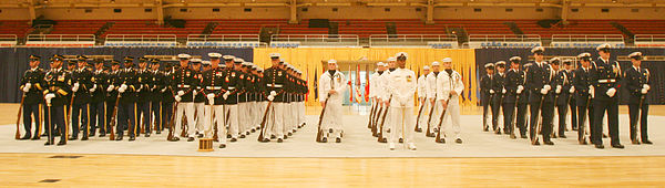 Participants of the U.S. Armed Forces Joint Ceremonial Drill Competition 2008