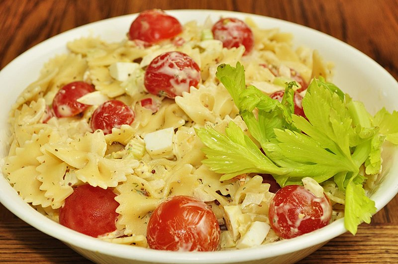 File:Pasta salad with cherry tomatoes.jpg