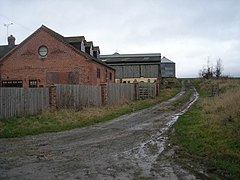 Path passing Alcaston Barns - geograph.org.uk - 665835.jpg
