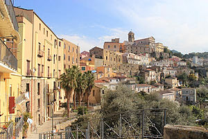 Patti, Sicily - View of the cathedral and historical centre