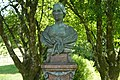Pedestal and Bust of Marchioness of Londonderry In The Gardens of Plas Machynlleth,Plas Drive.jpg