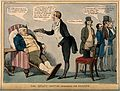 Peel about to force-feed a large tablet to John Bull in an a Wellcome V0011366.jpg