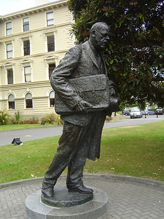 Peter Fraser - A statue of Fraser in the Government Buildings Historic Reserve in Wellington.