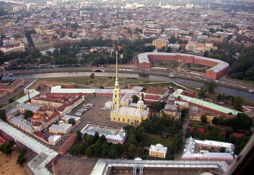 Petropavlovskaia Krepost aerial