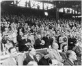 Photograph of President Truman and other dignitaries saluting the flag at Griffith Stadium in Washington, prior to... - NARA - 200366.tif