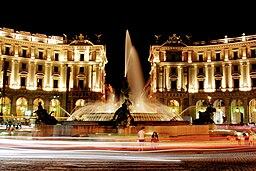 Piazza della repubblica hdr