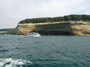 Pictured Rocks National Lakeshore tourboat.JPG