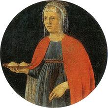 Sant'Agata, di Piero della Francesca, ca 1460-1470.