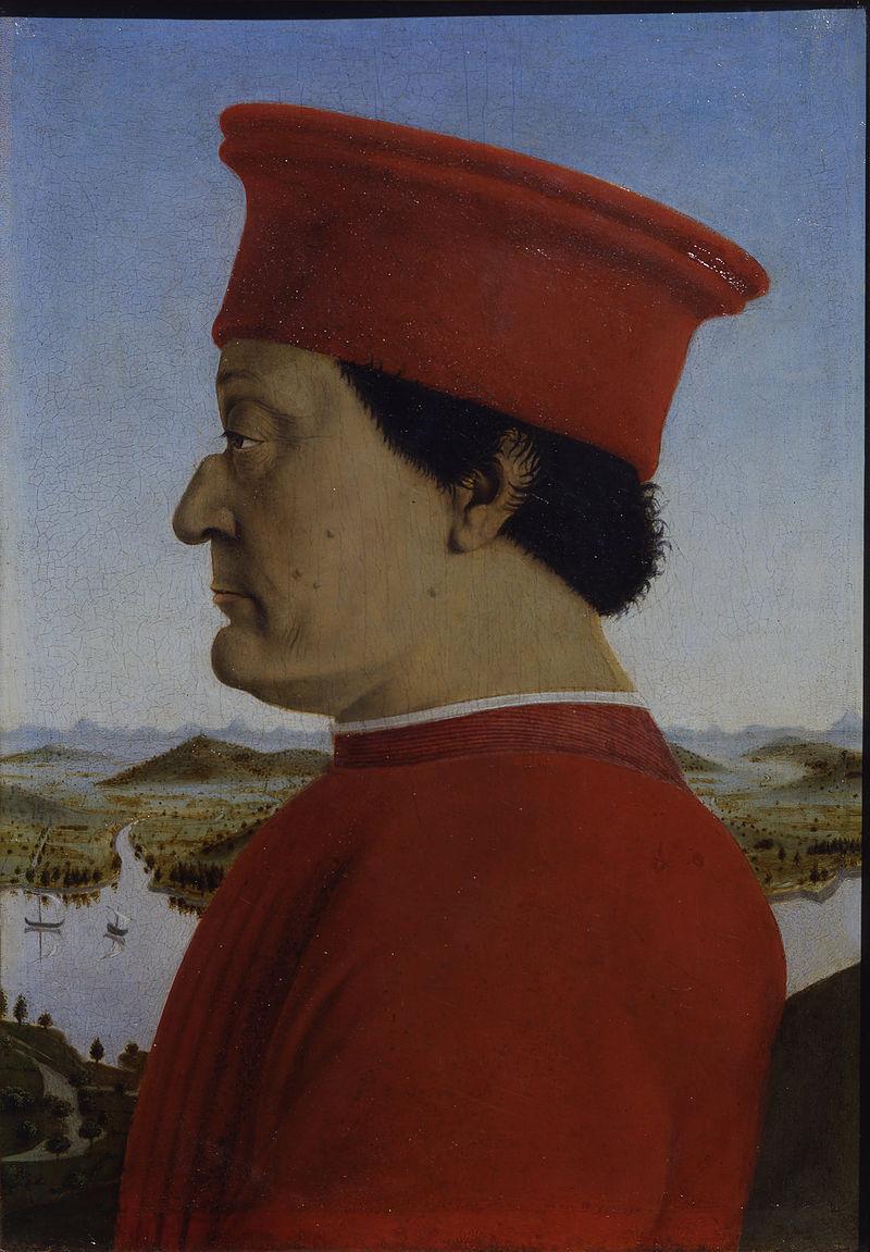 Пьеро делла Франческа - Ritratti dei Duchi di Urbino Federico da Montefeltro e Battista Sforza - Google Art Project.jpg