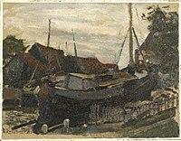 Piet Mondriaan - Drydock at Durgerdam, oil sketch - 0334262 - Kunstmuseum Den Haag.jpg