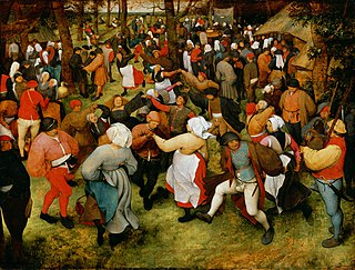 <i>The Wedding Dance</i> painting by Pieter Brueghel the Elder