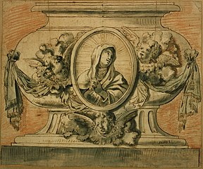 Reliquary depicting the Madonna at prayer