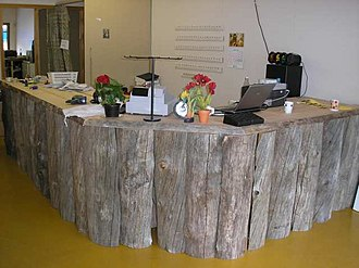"Snag (ecology) - ""Kelo wood"" (""dead wood"") used in Finland in the manufacture of rustic furniture products."